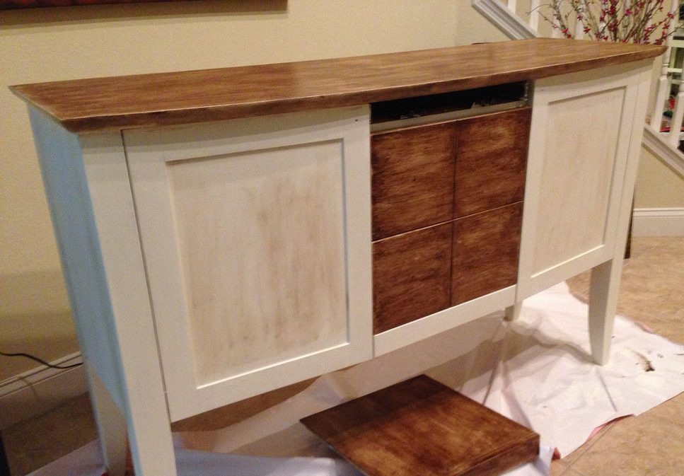 mueble pintura a la tiza