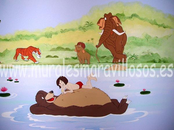 mural libro selva baloo