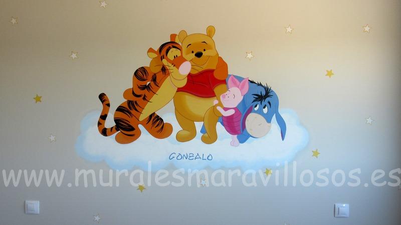 mural winnie amigos