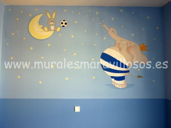 murales animales elefante
