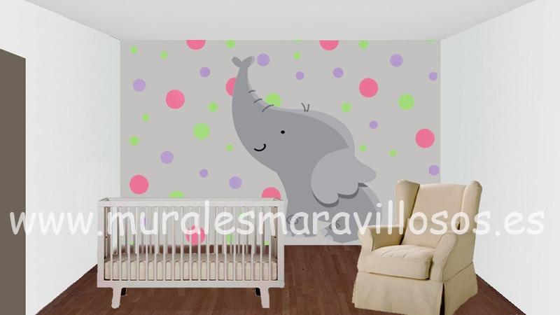 murales de animales y circulos