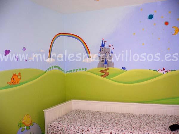 murales infantiles castillos
