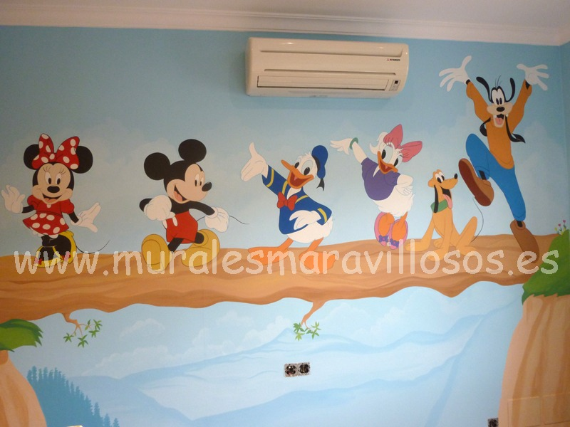 murales mickey minnie