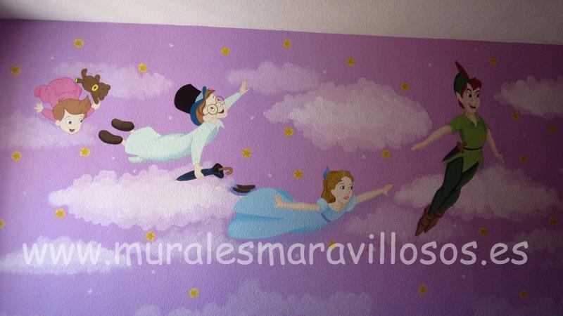 murales pared peterpan