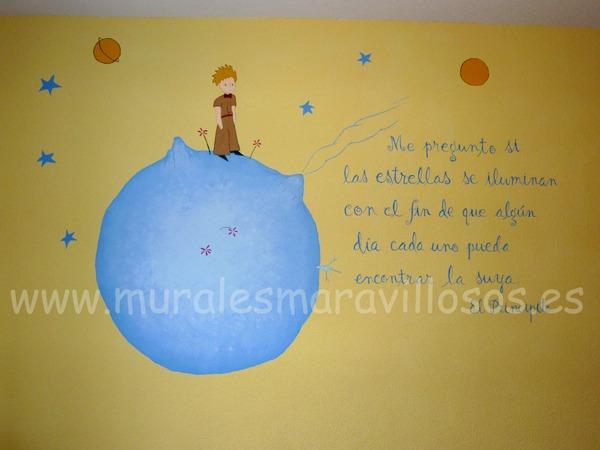murales pared el principito