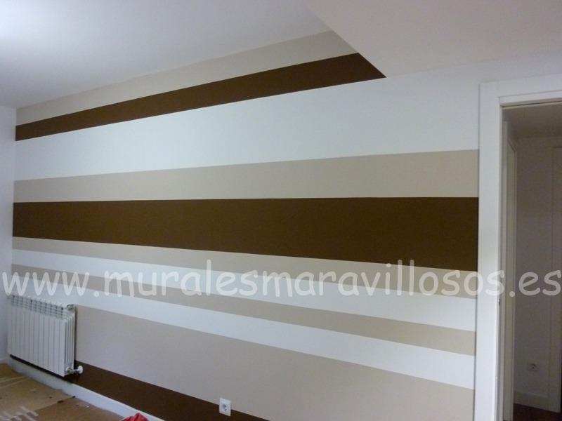paredes salones rayas marrones