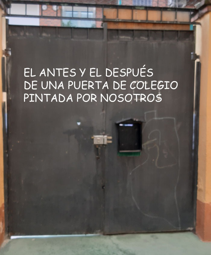 pintura puertas colegios