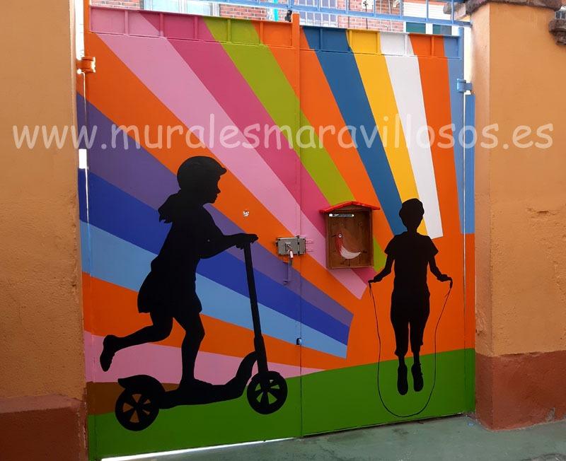 puertas pintadas colegios
