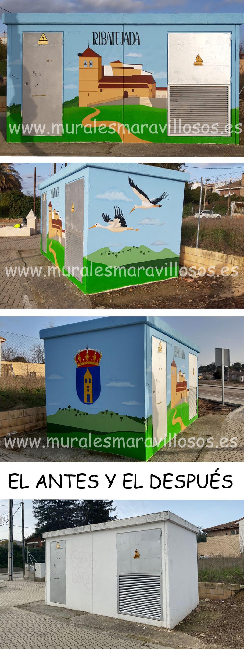 casetas pintadas en pueblos