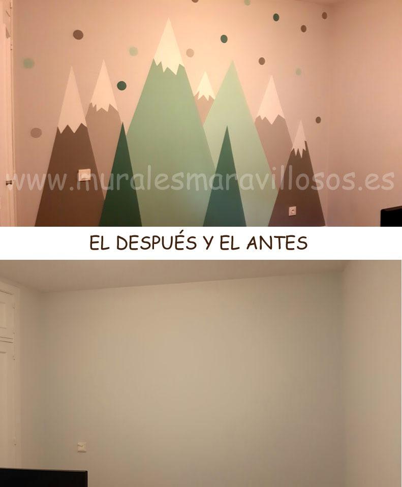 pintar montañas en paredes