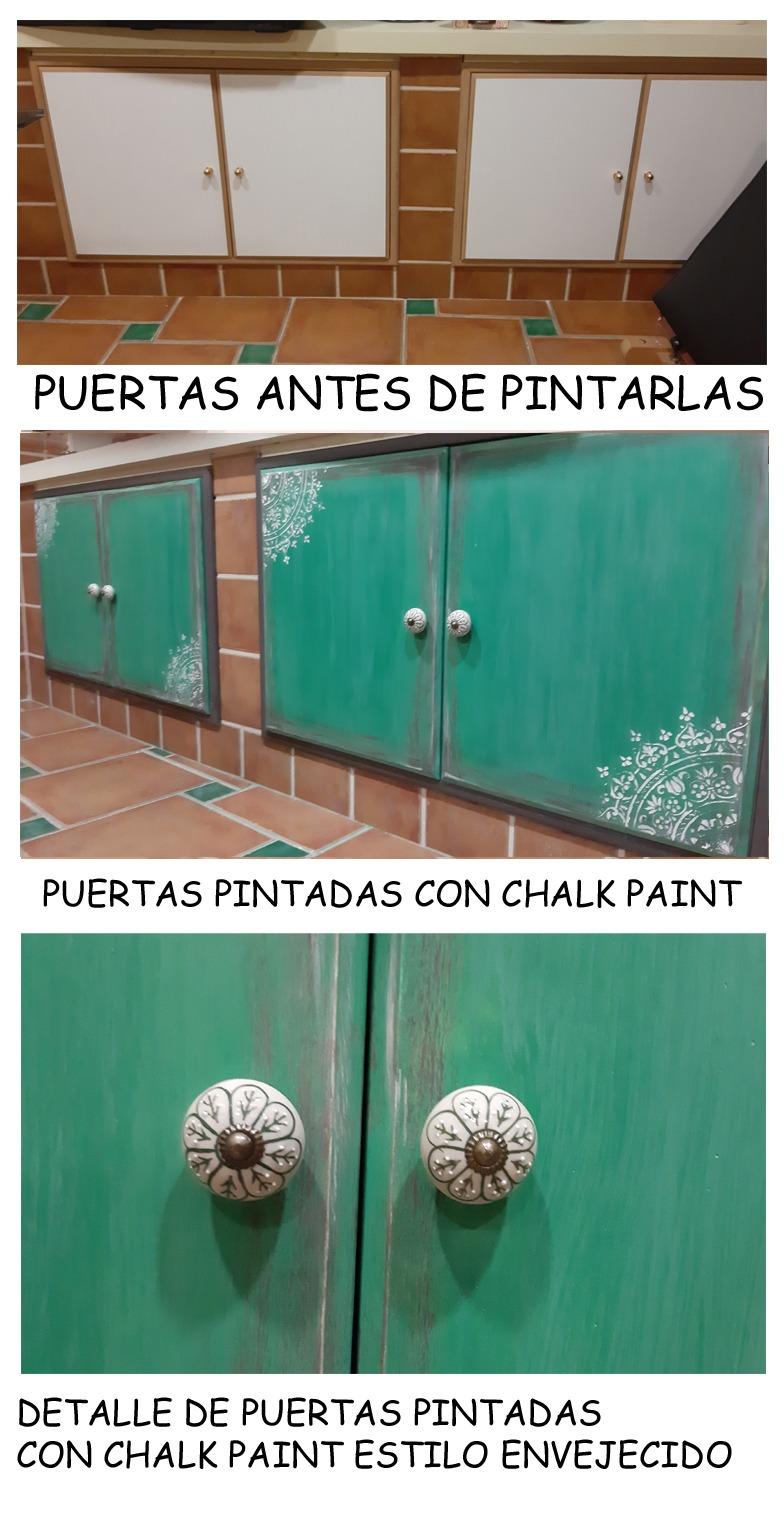 pintura puertas verdes chalk paint