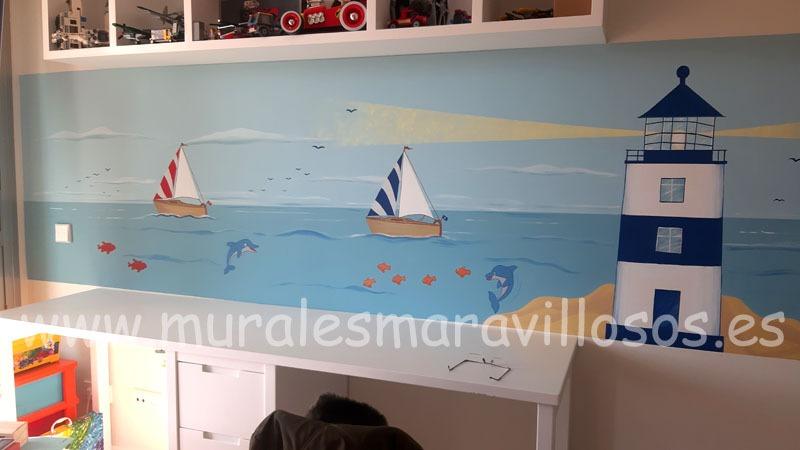 mural marinero habitacion infantil
