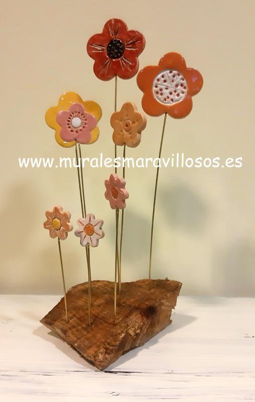 flores de ceramica
