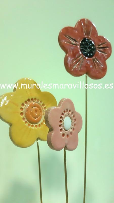 ceramica de flores