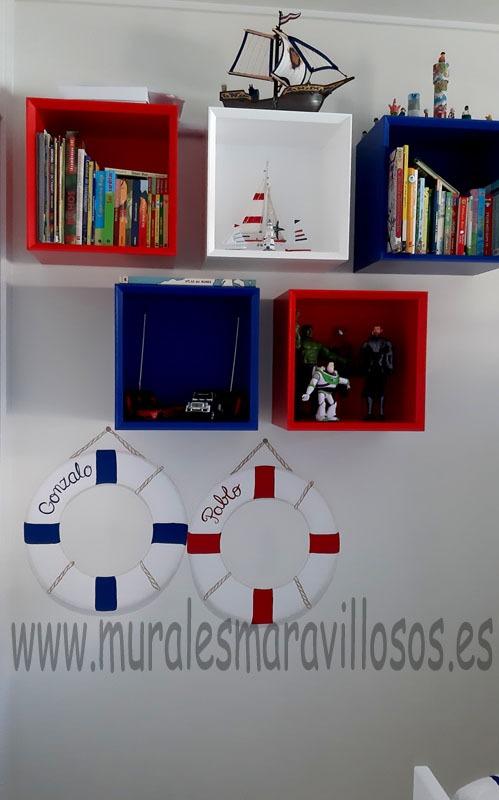 salvavidas pintados habitacion infantil