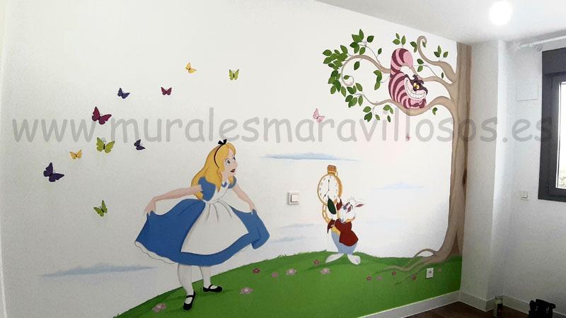 murales alicia pais maravillas