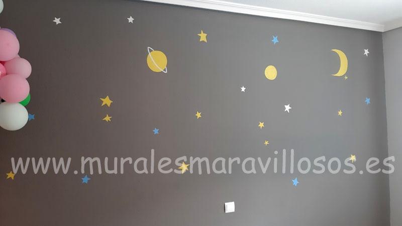 pintura infantil principito estrellas