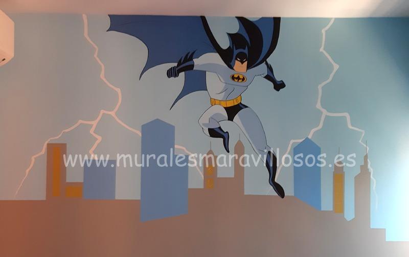 mural habitacion batman