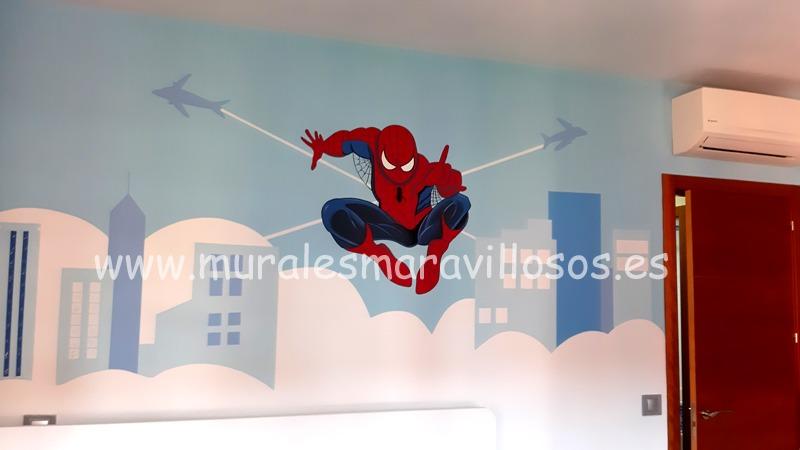 murales pintados en paredes spiderman
