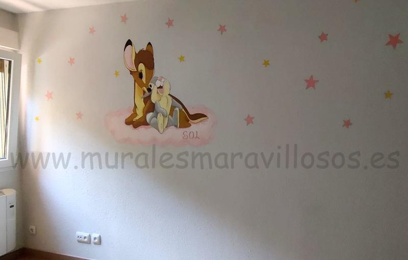 murales de bambi estrellas